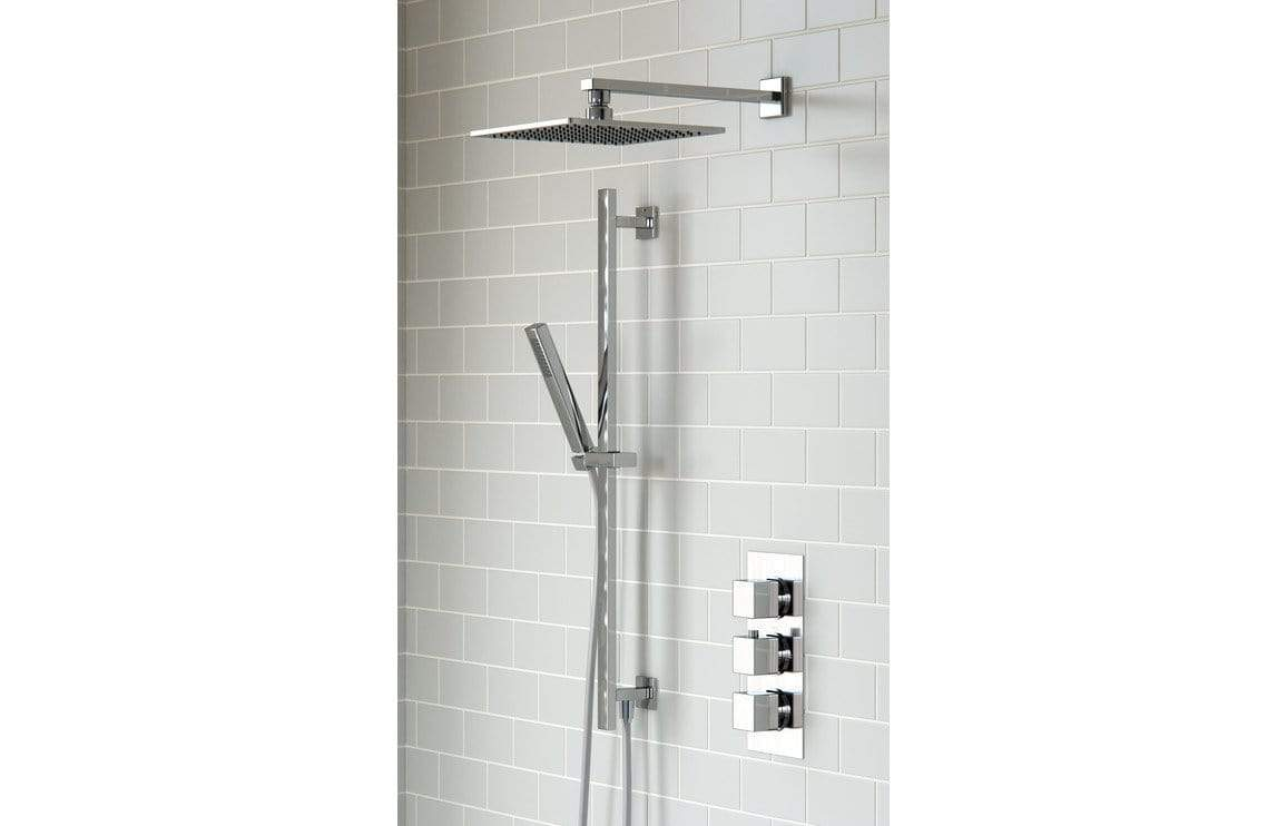 Bathrooms to Love Square Shower Pack 7 - Kuba Triple Two Outlet & Riser/Overhead Kit DICMP0026