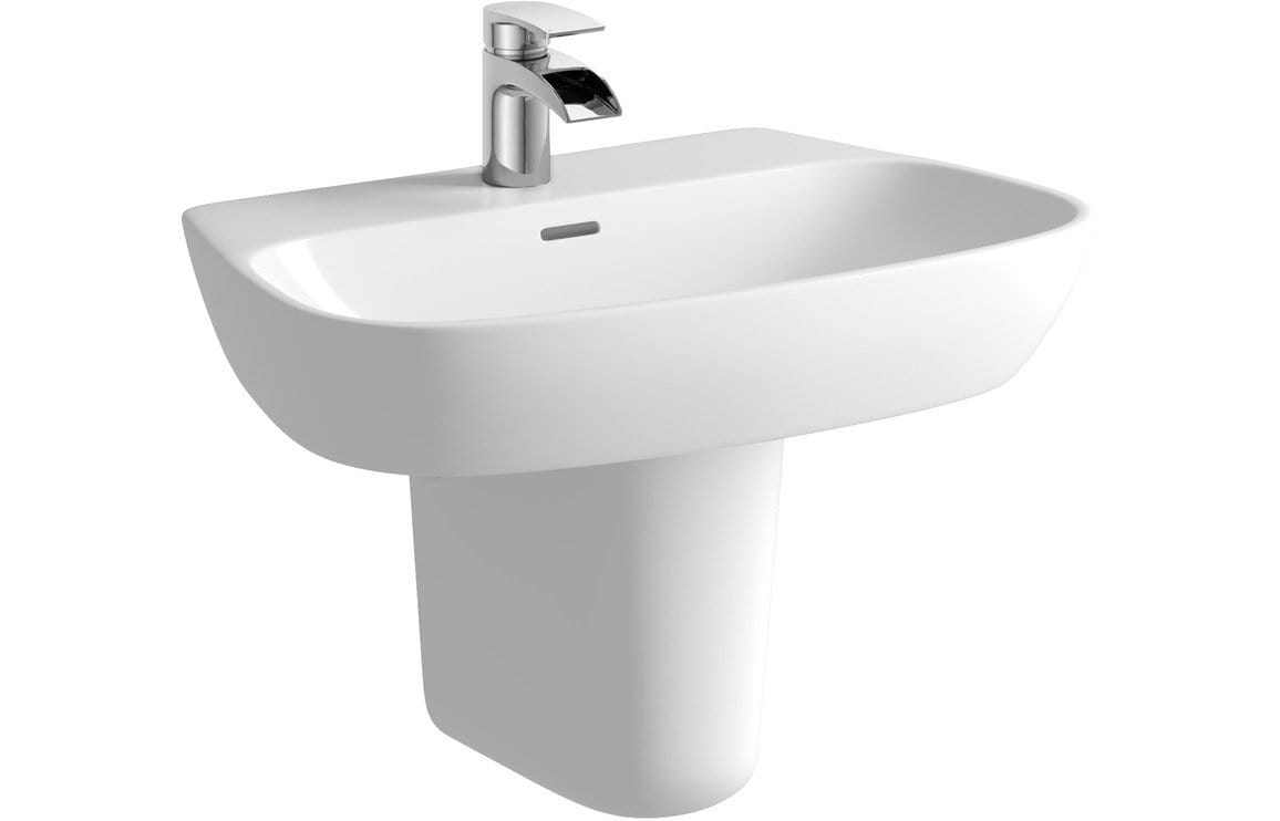 Bathrooms to Love Tilia 600x400mm 1TH Basin & Semi Pedestal DIPBP1150