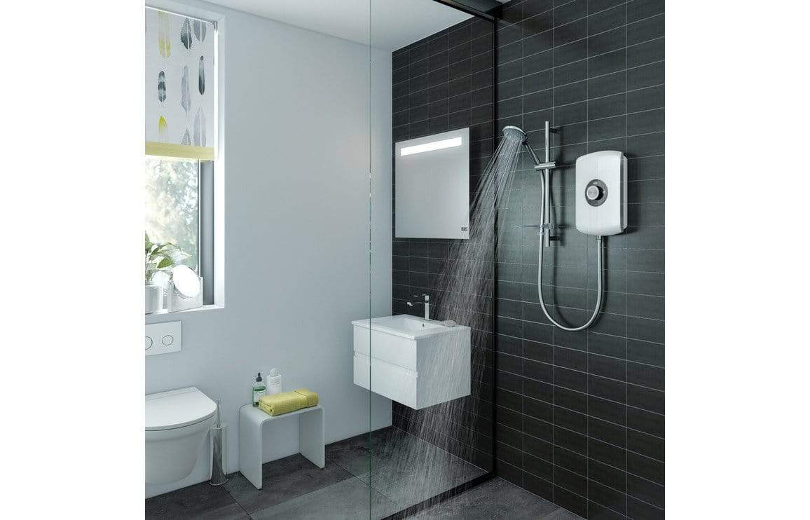 Bathrooms to Love Triton Amore Electric Shower 8.5kw - Black Gloss DICM0310