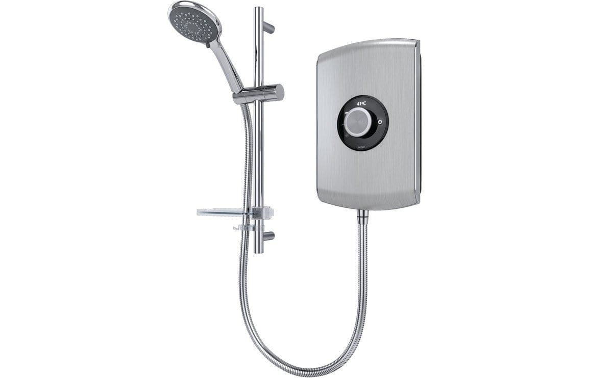Bathrooms to Love Triton Amore Electric Shower 8.5kw - Brushed Steel DICM0302