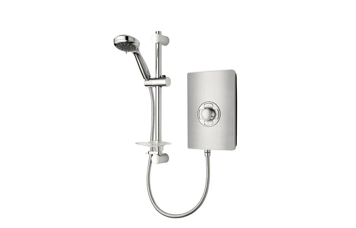 Bathrooms to Love Triton Aspirante 8.5 kw Contemporary Electric Shower - Brushed Steel DICE0040
