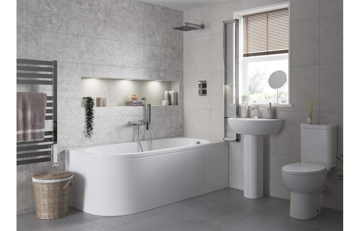 Bathrooms to Love Tuscany 450x400mm 1TH Basin & Full Pedestal DIPBP1158