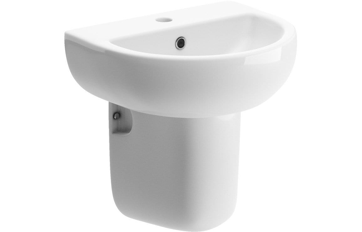 Bathrooms to Love Tuscany 450x400mm 1TH Basin & Semi Pedestal DIPBP1160