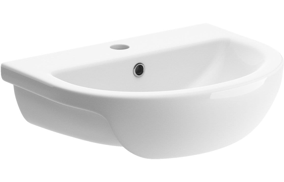 Bathrooms to Love Tuscany 500x390mm 1TH Semi Recessed Basin DIPB1204