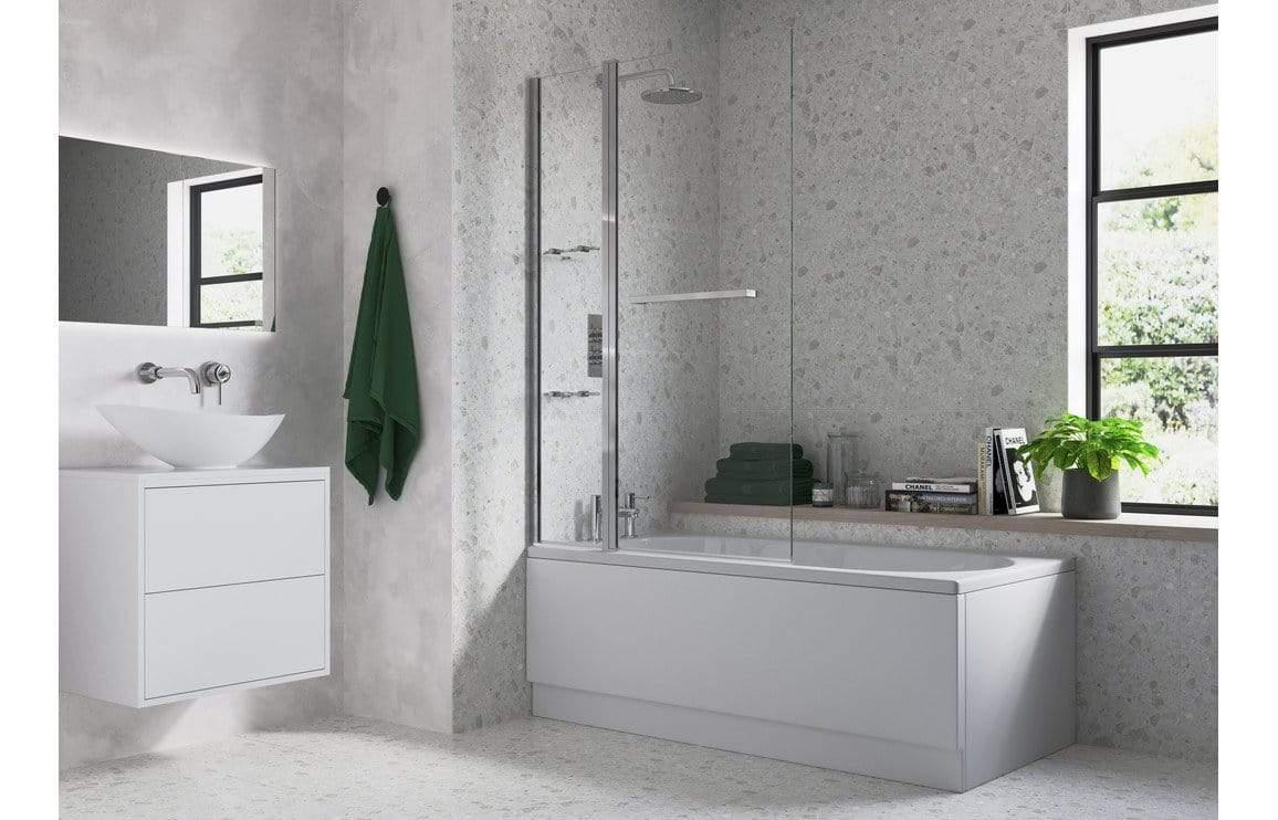 Bathrooms to Love Two Panel Folding Bath Screen DIBS0098