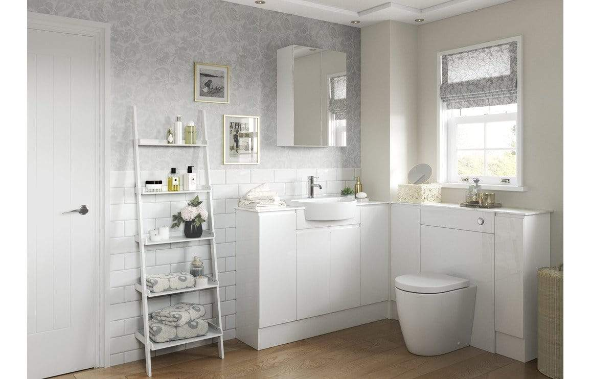 Bathrooms to Love Valesso 500mm Mirrored Unit - White Gloss DIFT1572