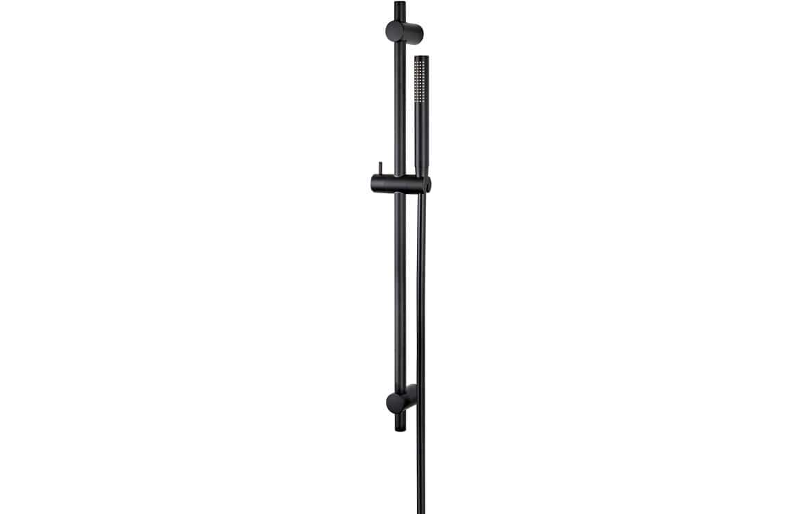 Bathrooms to Love Vema Maira Black ABS Riser Rail w/Hose & Handset DICM0544