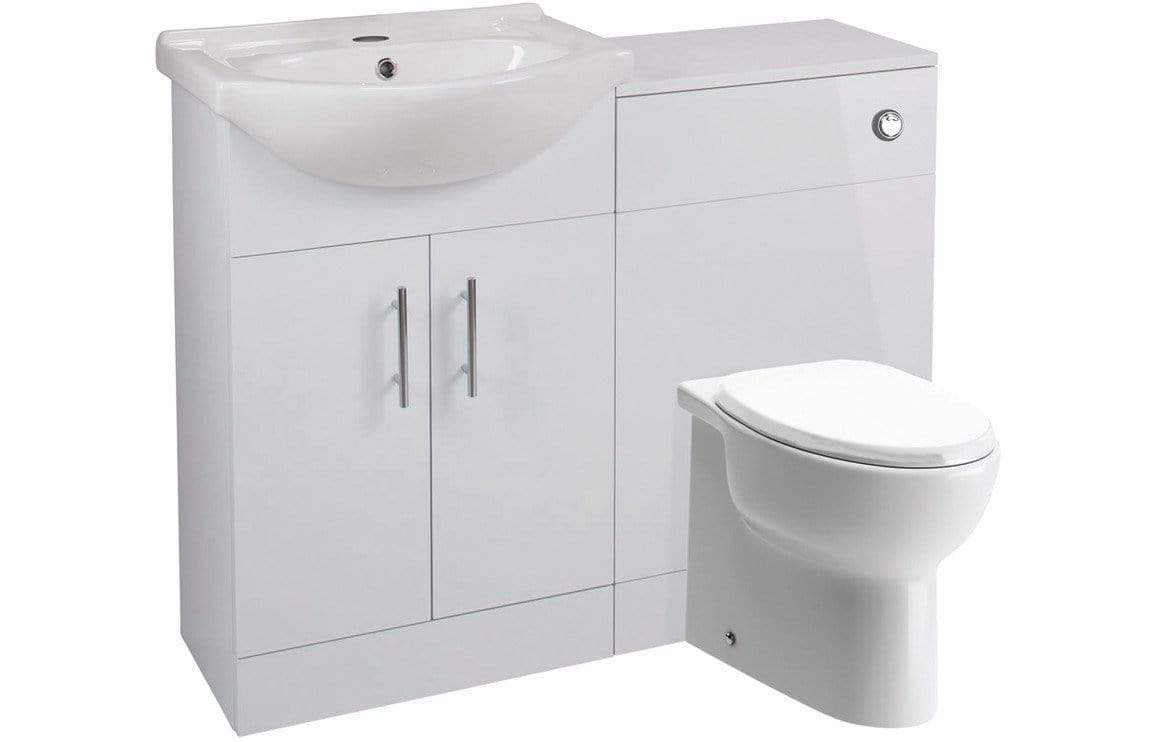 Bathrooms to Love Vista White Gloss 500mm Tuscany WC Unit Pack DIFTP1878