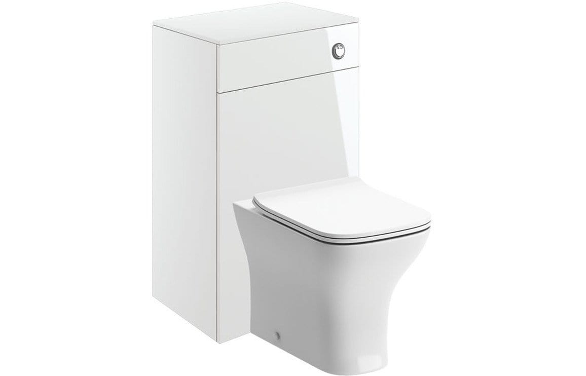 Bathrooms to Love Volta 500mm Floor Standing WC Pack - White Gloss DIFTP1860