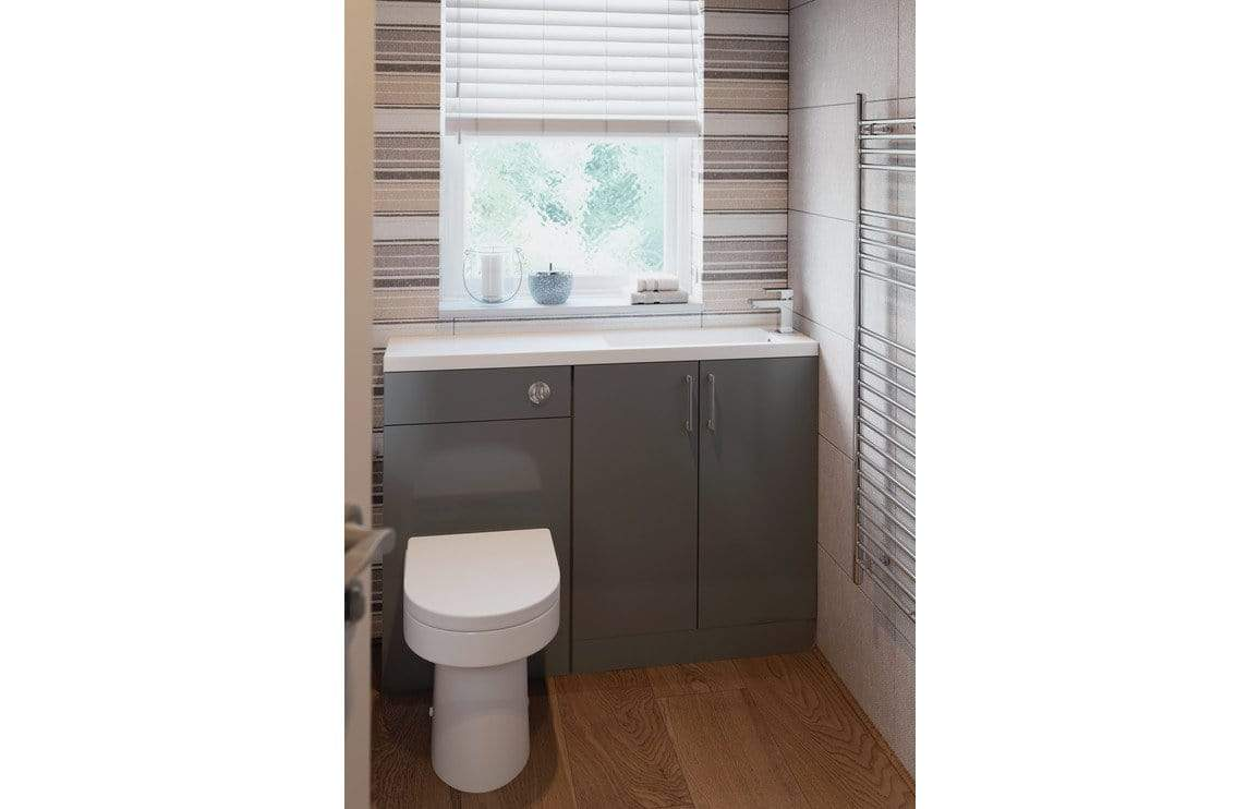 Bathrooms to Love Volta Grey Gloss Space Saving Furniture Pack DIFTP2056