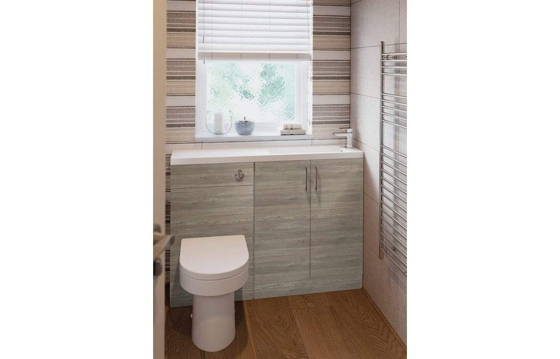 Bathrooms to Love Volta Grey Nordic Wood Space Saving Furniture Pack DIFTP2058