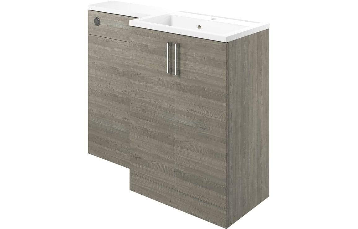 Bathrooms to Love Volta Grey Nordic Wood Vanity, Basin & WC Pack (Right Hand) DIFTP1778
