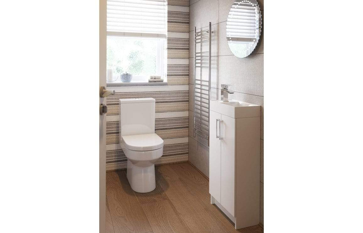Bathrooms to Love Volta White Gloss Space Saving Furniture Pack DIFTP1724
