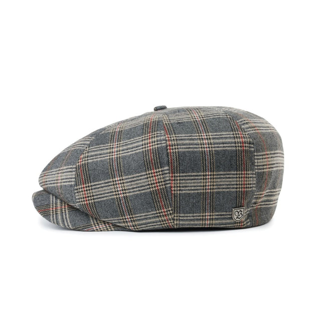 Brood Snap Cap Grey/Tan Plaid