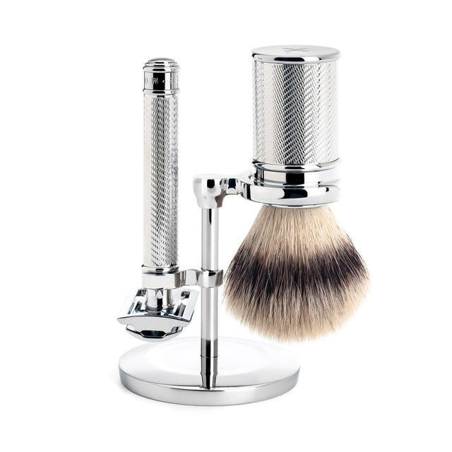 Shaving Set Traditional Chrome