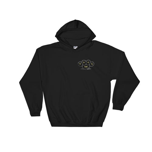 Knuckles Hooded Sweatshirt - Black & Yellow Print