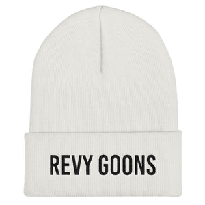 Revy Goons Cuffed Beanie - Black Embroidery