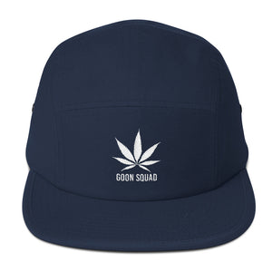 Kush Leaf Five Panel - White Embroidery