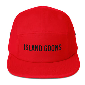 Island Goons Five Panel - Black Embroidery