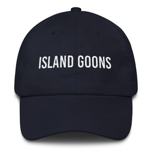Island Goons Dad Cap - White Embroidery