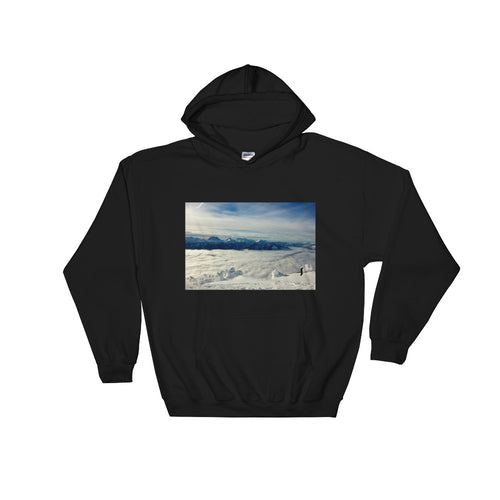 Top Of The World Hooded Sweatshirt - Photo Print
