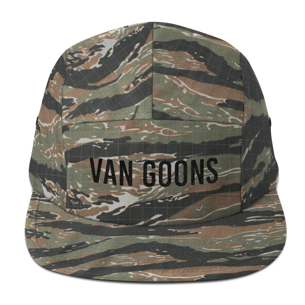 Van Goons Five Panel - Black Embroidery