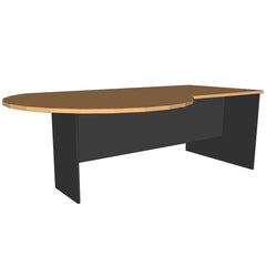 Custom P-End Desk