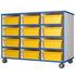 Mobile storage 12 tray unit