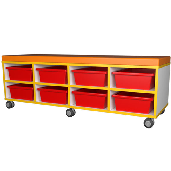 Mobile Seat storage 8 tray unit