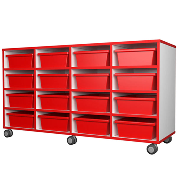 Mobile storage 16 tray unit