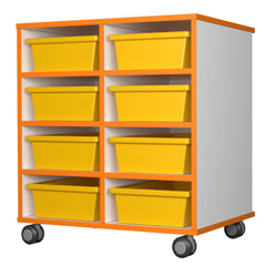 Mobile storage 8 tray unit