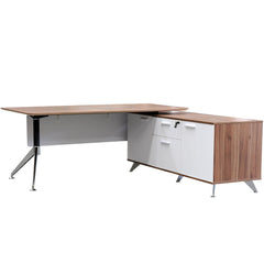 Potenza Executive Desk + Return