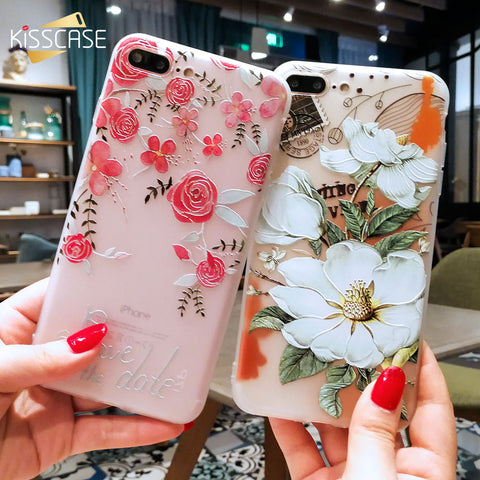 3D Relief Flower Case For iphone series