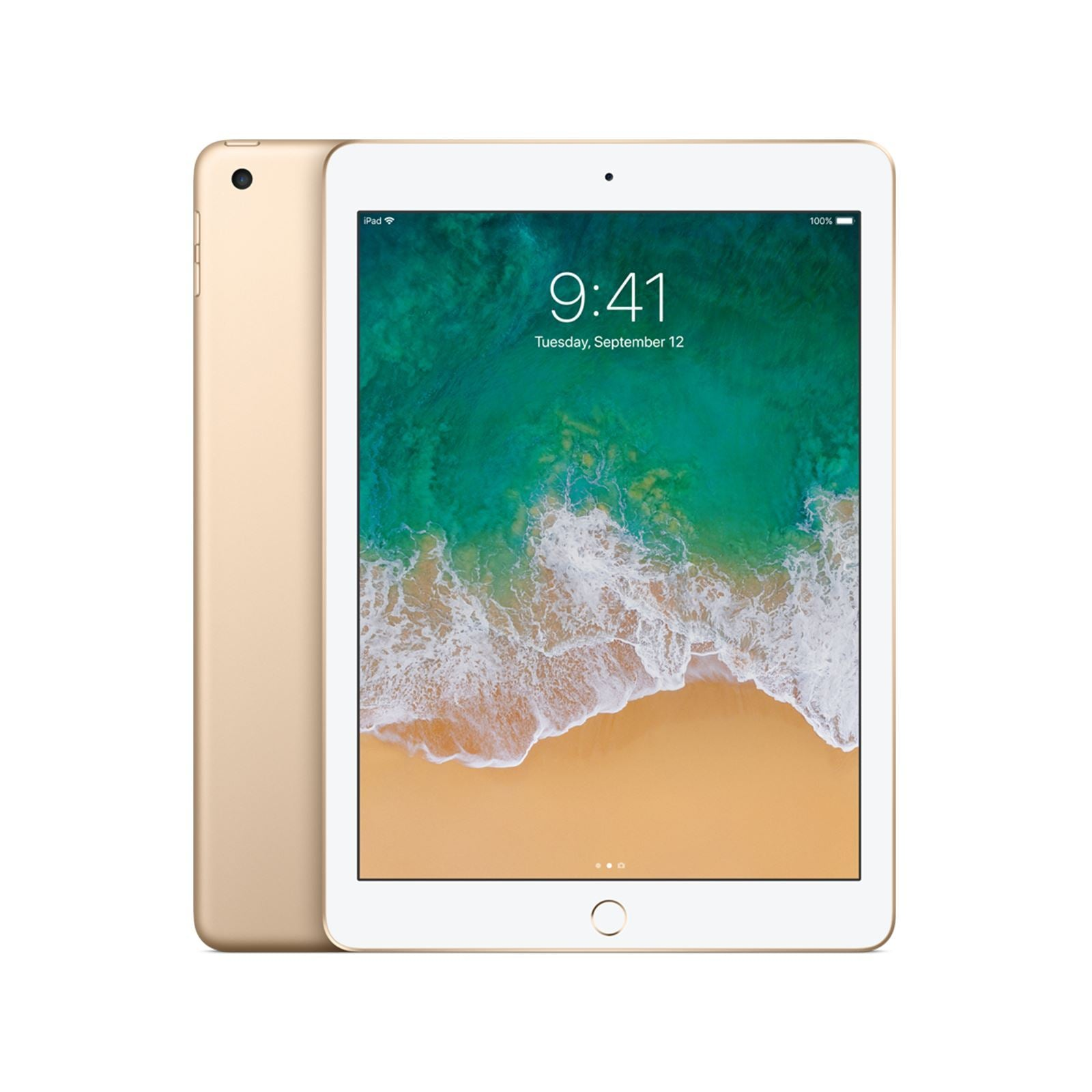 Apple iPad 5th Gen 128GB WiFi + Cellular Gold Refurbished Pristine