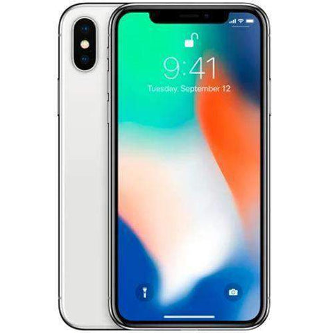 Apple iPhone X 64GB, Silver EE Locked Refurbished Excellent Sim Free cheap