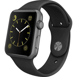 Apple Watch Series 1 42mm Space Black Stainless Steel Case - Refurbished Good Sim Free cheap
