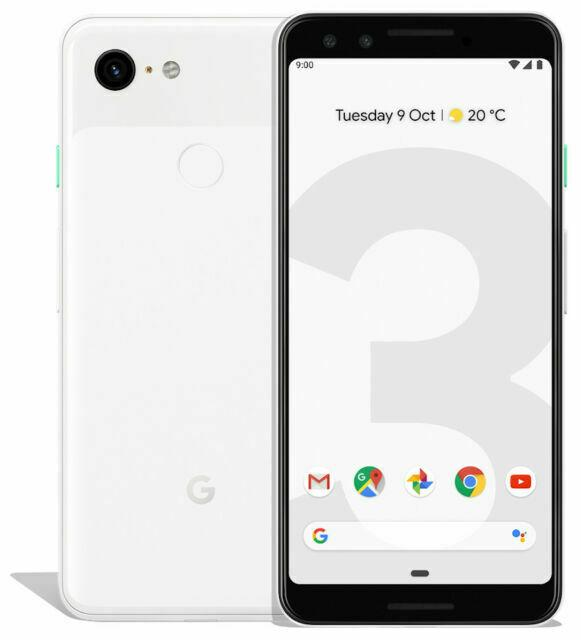 Google Pixel 3 64GB  Clearly White Unlocked Refurbished Pristine