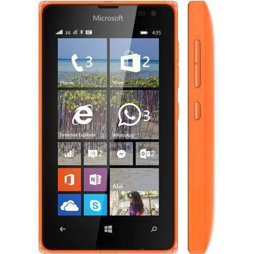 Microsoft Lumia 435 Orange Unlocked - Refurbished Excellent Sim Free cheap