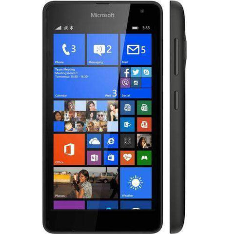 Microsoft Lumia 535 8GB Black Unlocked - Refurbished Excellent Sim Free cheap