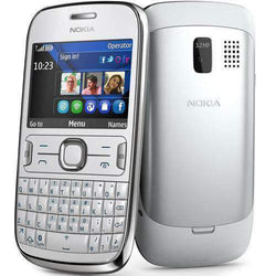 Nokia Asha 302 White/Silver Unlocked - Refurbished Very Good Sim Free cheap