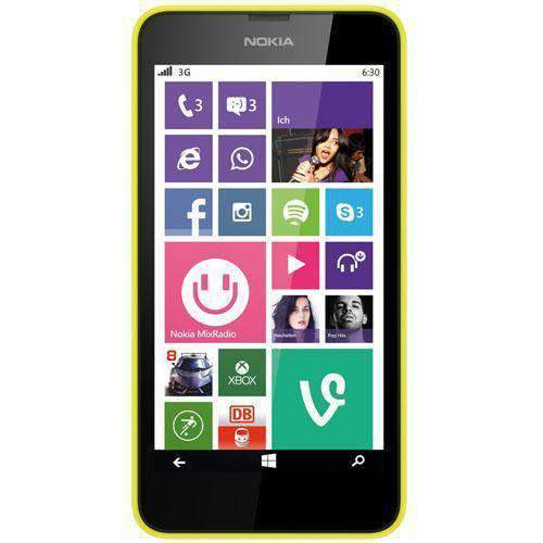 Nokia Lumia 630 Smartphone Bright Yellow Unlocked - Refurbished Excellent Sim Free cheap