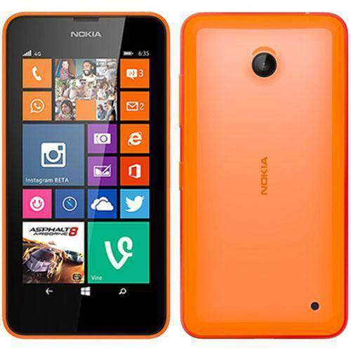 Nokia Lumia 635 8GB Bright Orange Unlocked - Refurbished Excellent Sim Free cheap