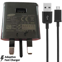Samsung 2AMP UK Mains Fast Charging Adapter EP-TA20UBE + MicroUSB Cable Sim Free cheap