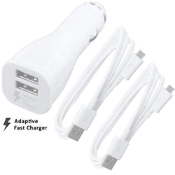 Samsung EP-LN920B Dual Port Fast Car Charger 2100mAh + MicroUSB Cable x2 Sim Free cheap