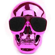Skull Head Shape Portable Wireless Bluetooth Speaker - Pink Sim Free cheap