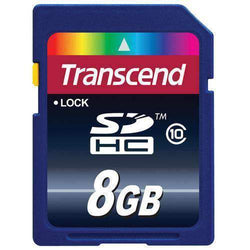 Transcend 8GB MicroSDHC Memory Card Class 10 UHS-I 20MB/s