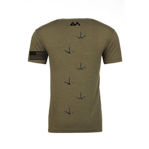 100% Freedom To Hunt Back of Shirt Military Green