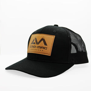 CRO-MAG leather patch hat black
