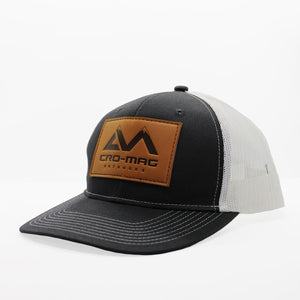 CRO-MAG leather patch hat grey steel and white