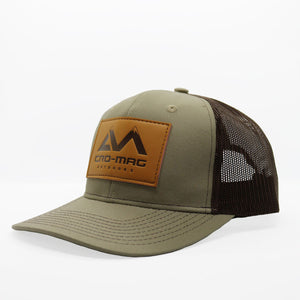 CRO-MAG leather patch hat true khaki and coffee